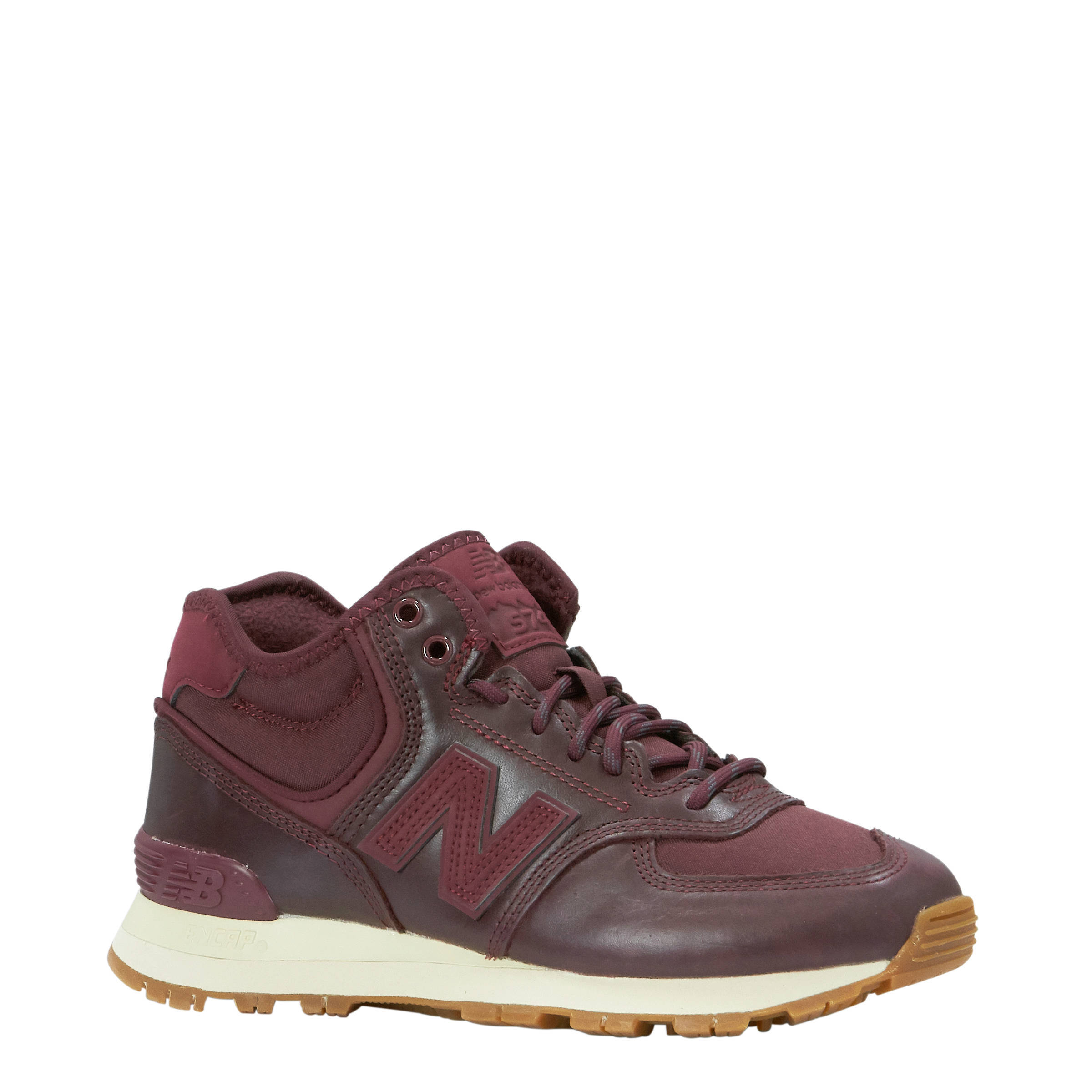New Balance WH574 suède sneakers bordeauxrood | wehkamp