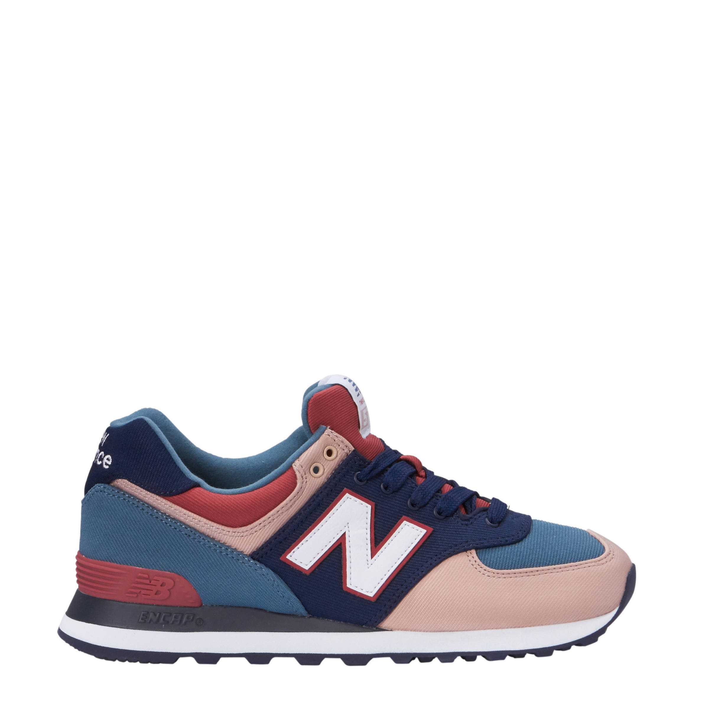 WL574 sneakers blauw/roze