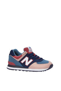 New Balance WL574 sneakers blauw/roze (dames)