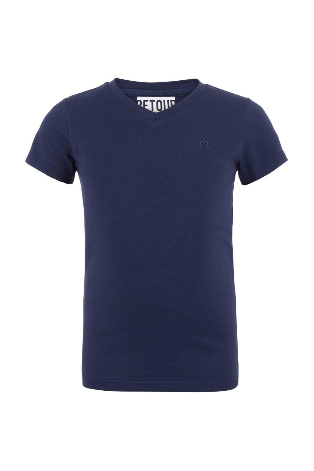 Retour Denim T-shirt Sean donkerblauw, Donkerblauw
