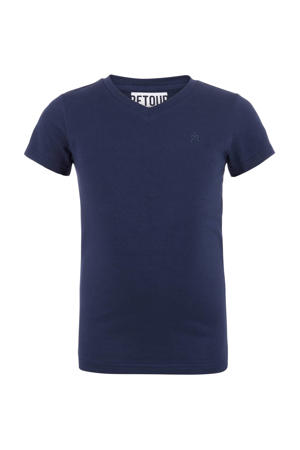 T-shirt Sean donkerblauw
