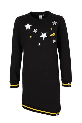 sweatjurk Sabine met sterren zwart