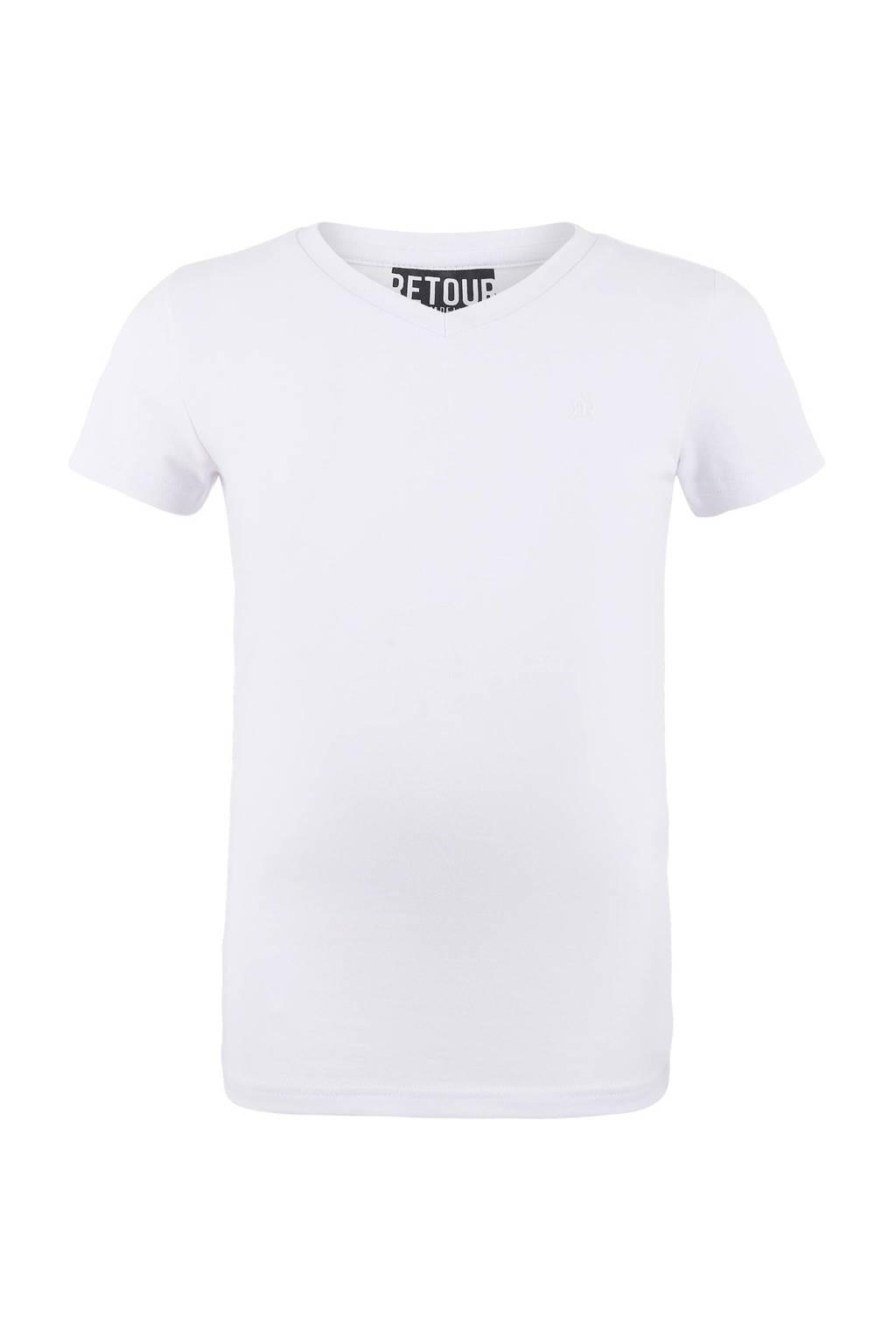 Retour Denim T-shirt Sean wit, Wit