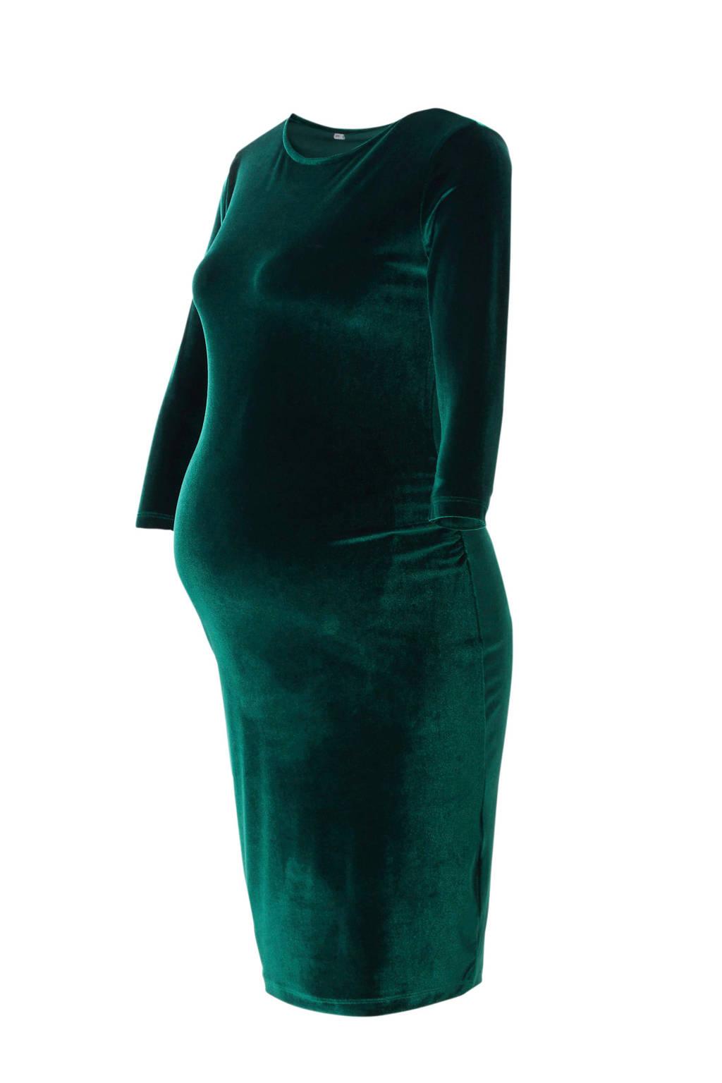 Marilyn velvet zwangerschapsjurk, Groen