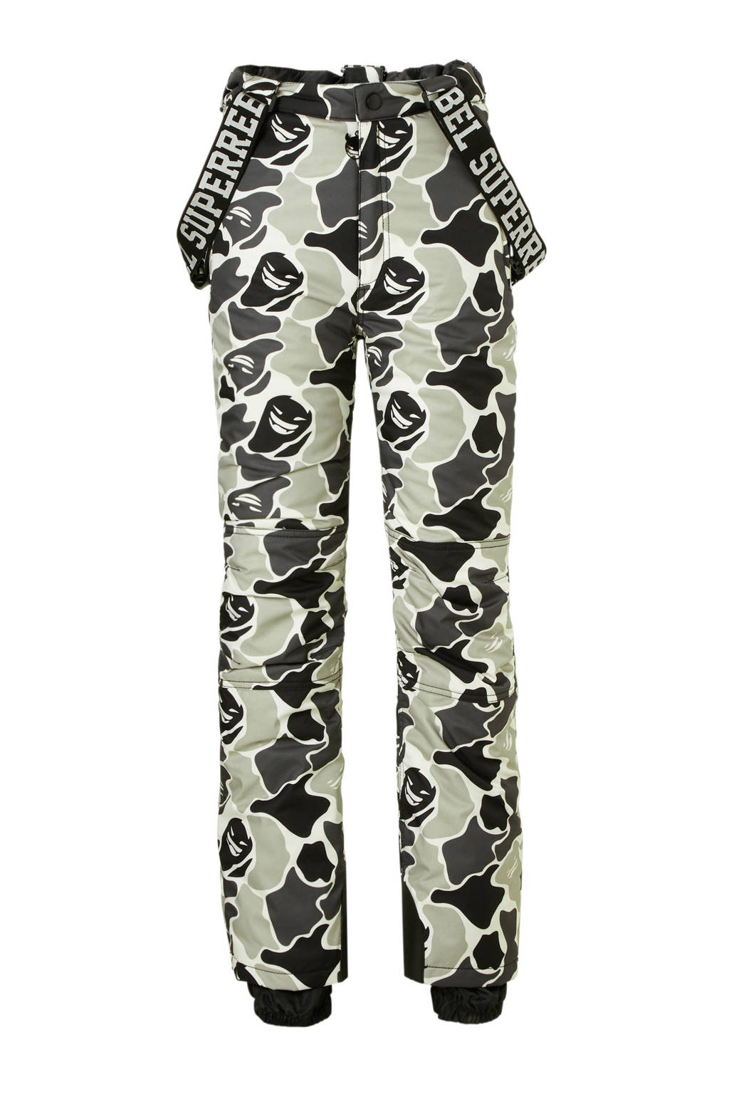 Super Rebel skibroek camouflage, Grijs/camouflage