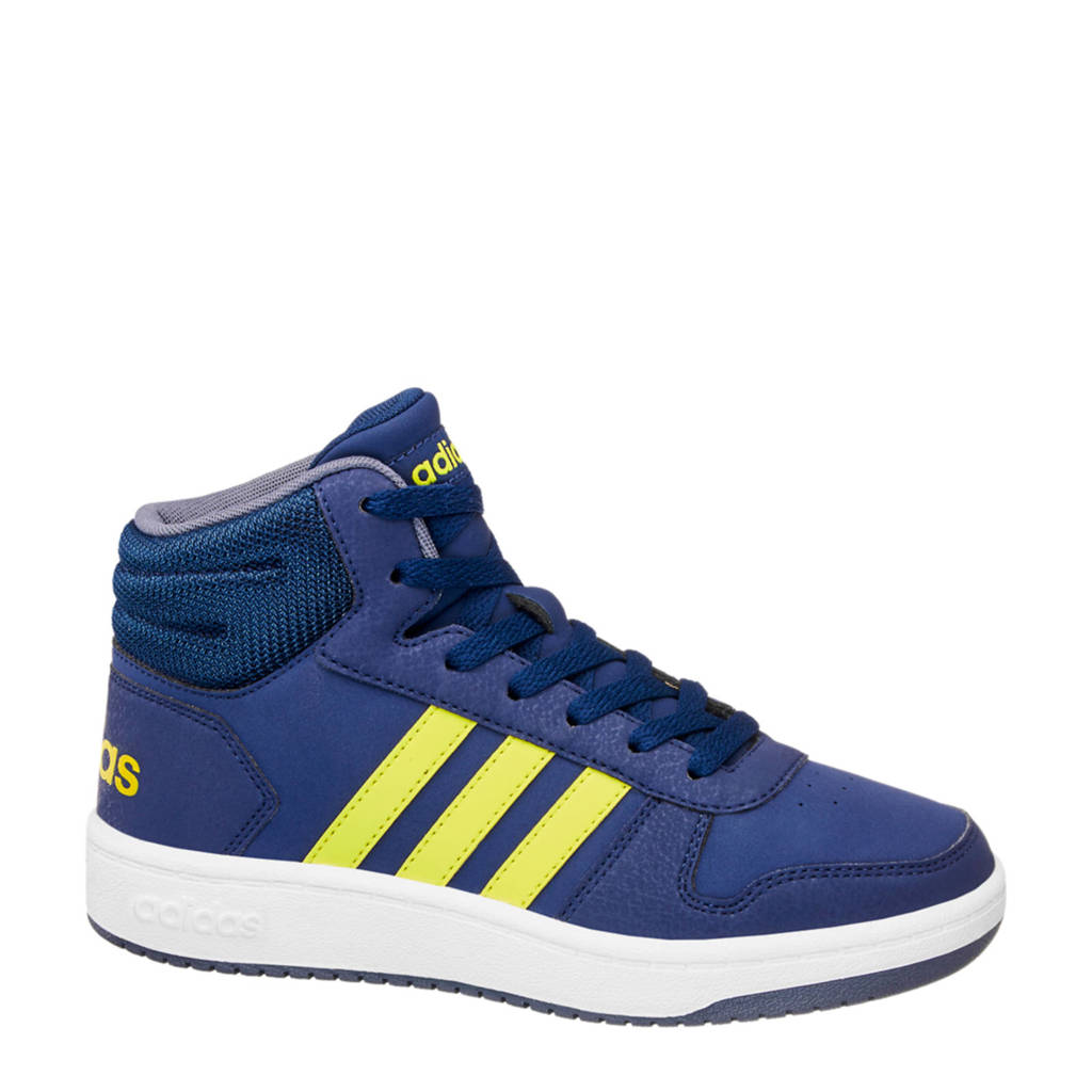 cheap for discount af9fa c0c1d adidas Hoops Mid 2.0 sneakers blauw, Blauwgeel