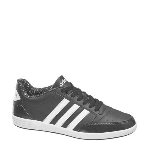 leren sneakers VL Hoops Low zwart