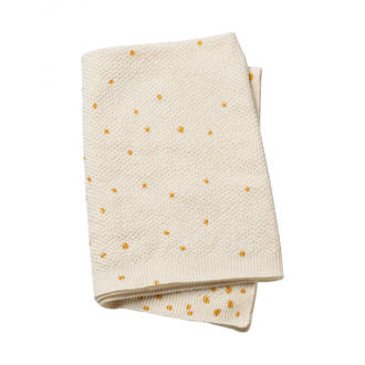 Gold Shimmer deken gebreid 70x100 cm