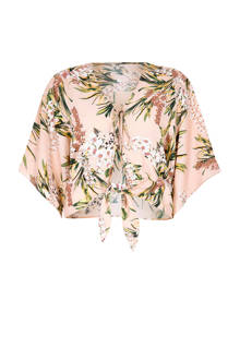 cropped top met bloemenprint