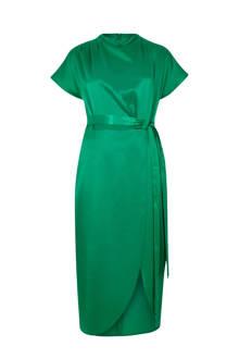 jurk met overslag en bindceintuur
