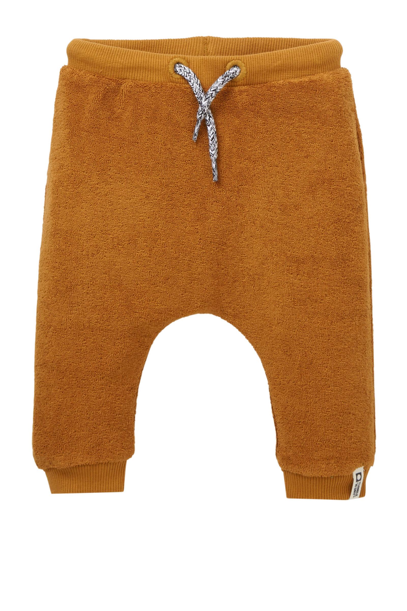 Tumble 'n Dry Zero newborn badstof sweatpants Xeff okerbruin (jongens)