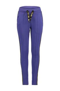 CoolCat sweatpants met zijstreep paars