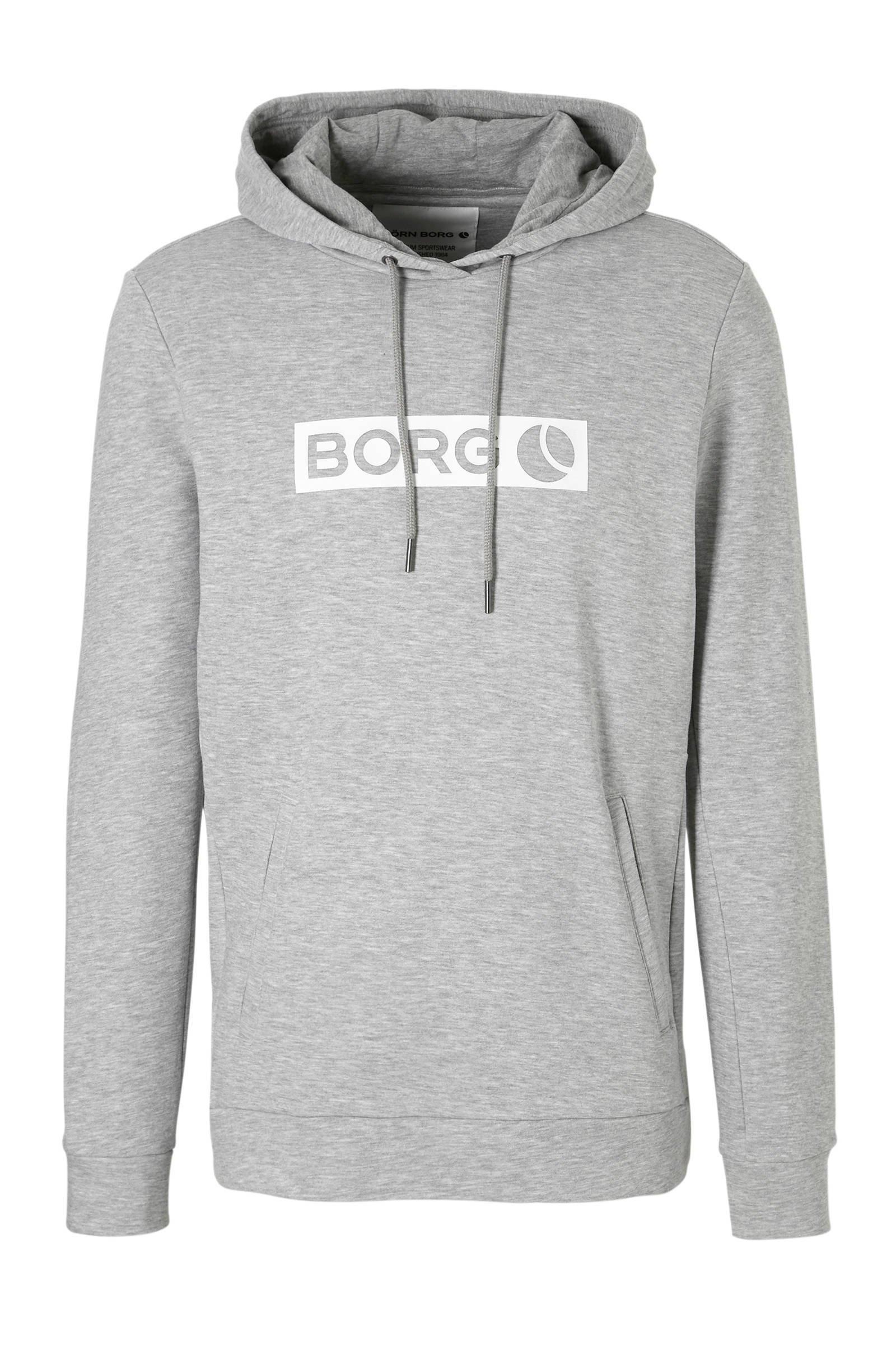 Björn Borg   hoodie grijs (heren)