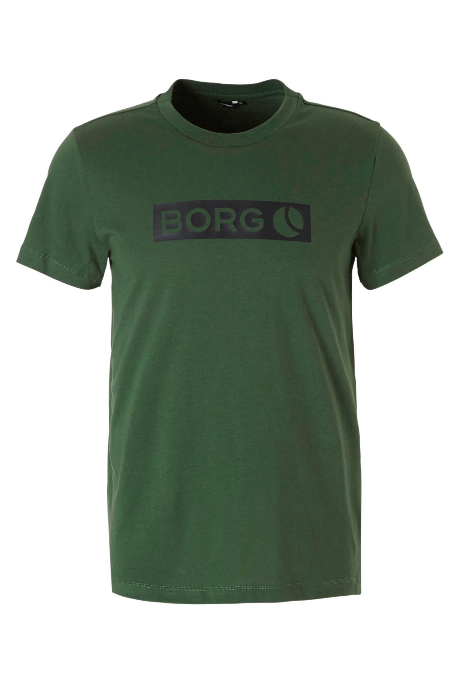 Björn Borg   Sport T-shirt donkergroen (heren)