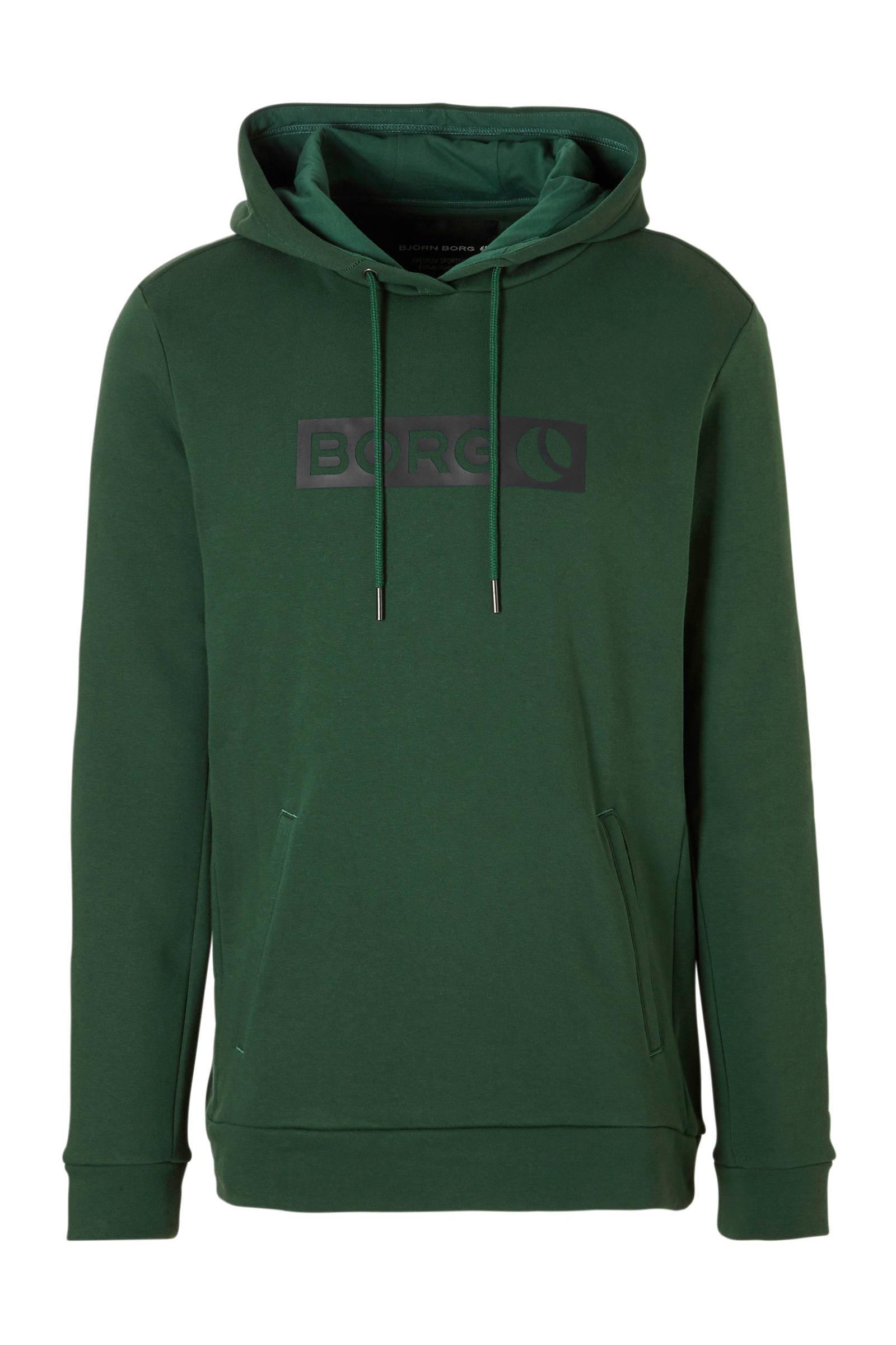 Björn Borg   hoodie donkergroen (heren)