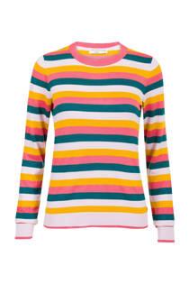 Steps trui met glitterkraag roze/geel (dames)