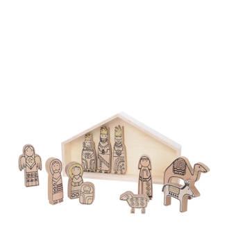 houten kerststal (11-delig)