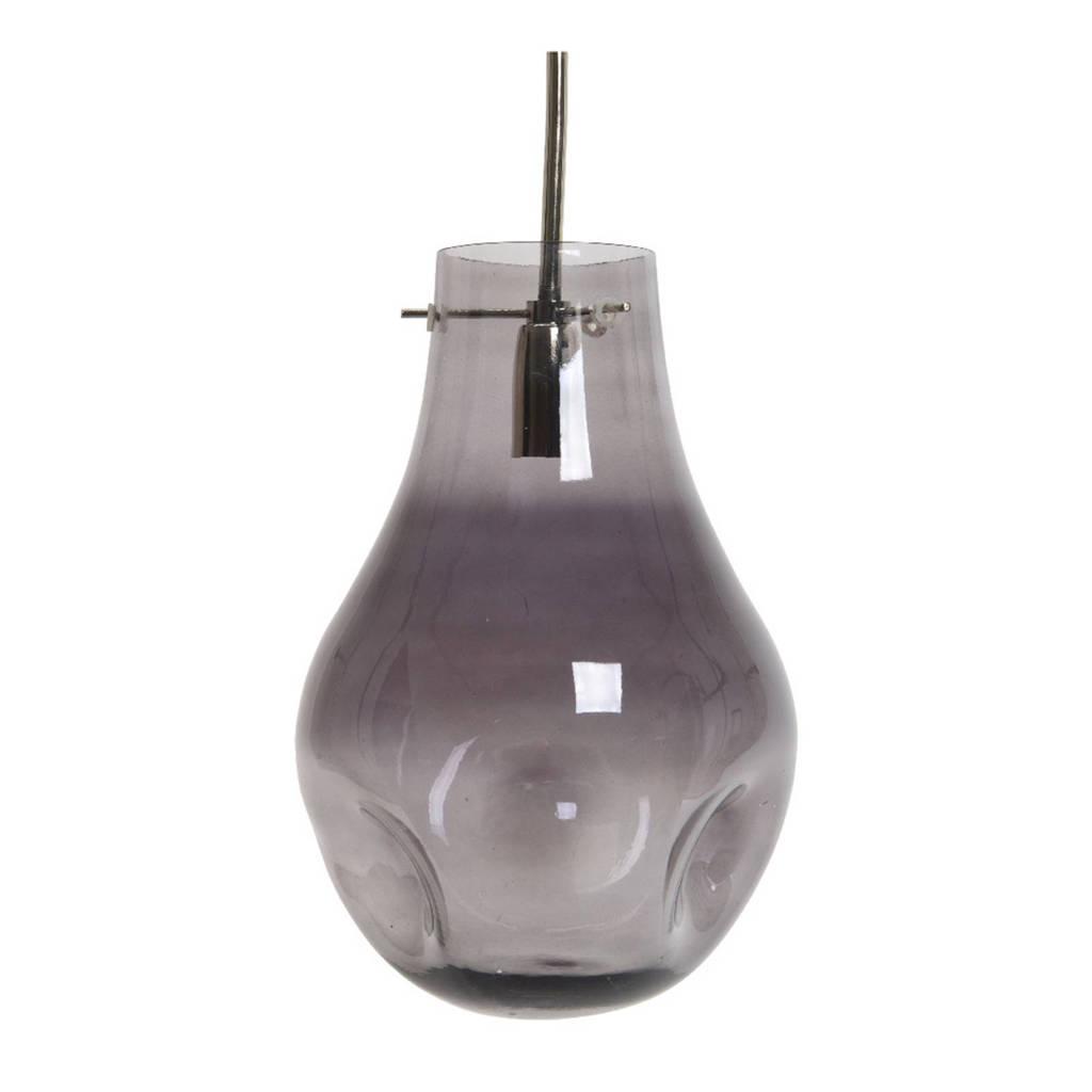 Lumineo hanglamp glas, Grijs