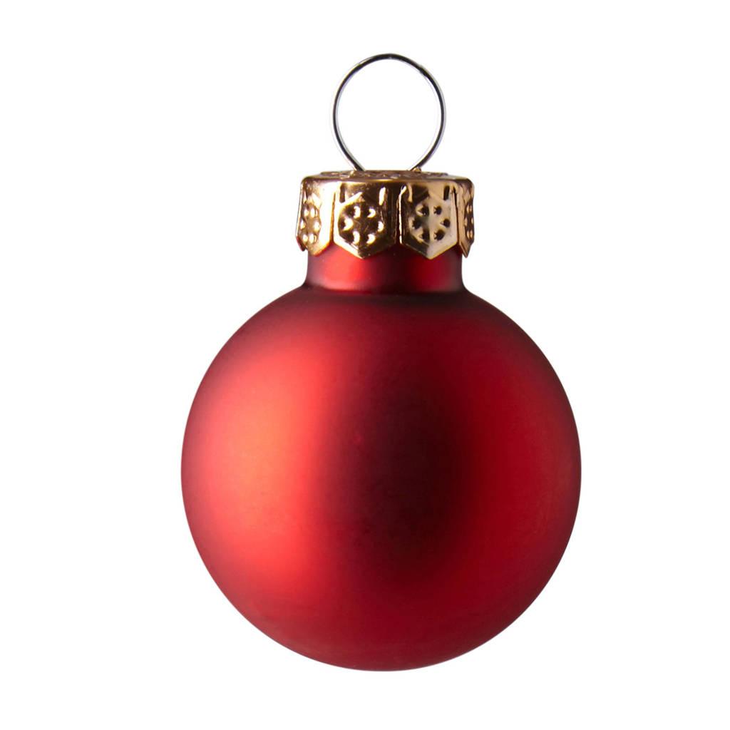 Decoris kerstballen (Ø2,5 cm) (set van 24), Rood