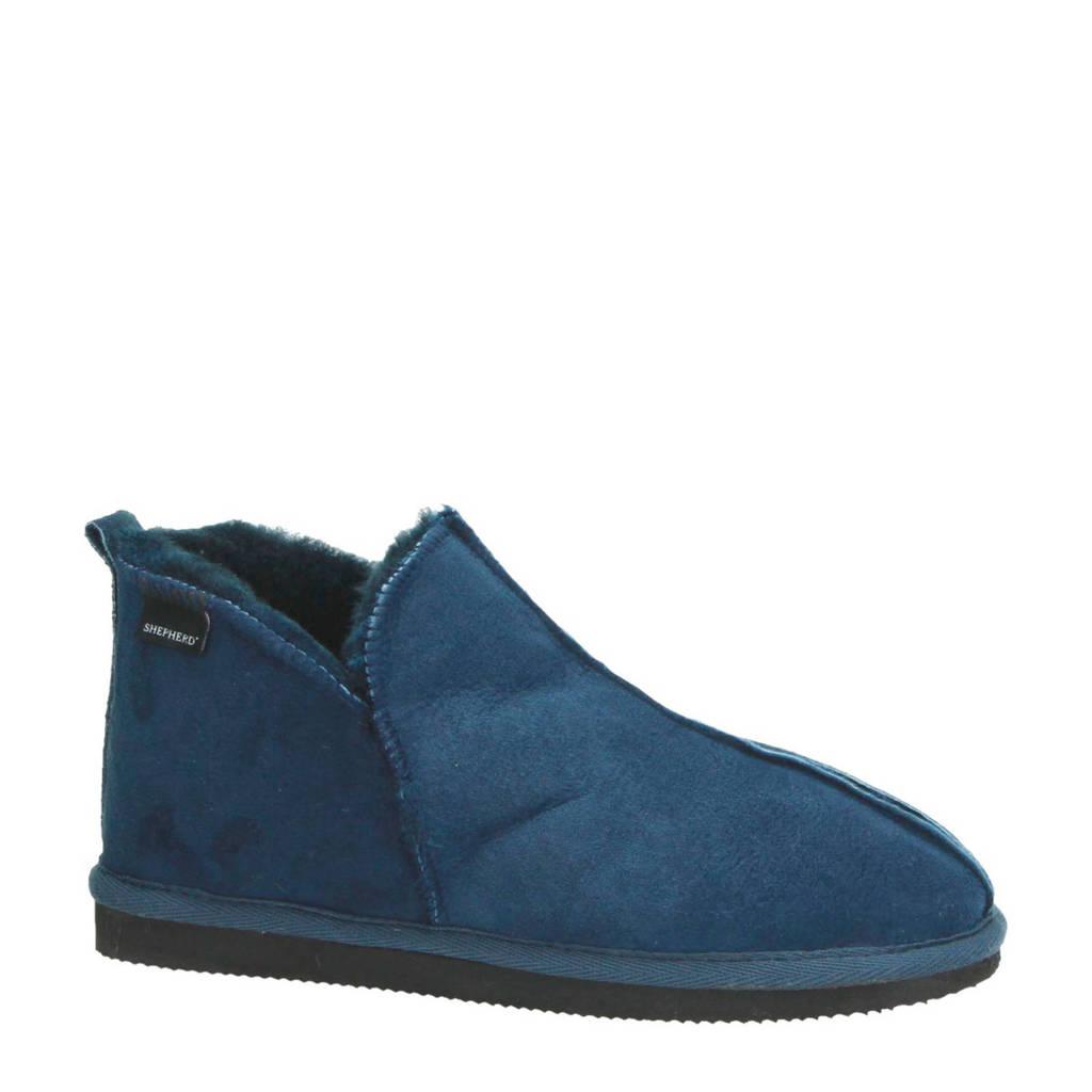 Shepherd suède pantoffels Annie blauw, Donkerblauw