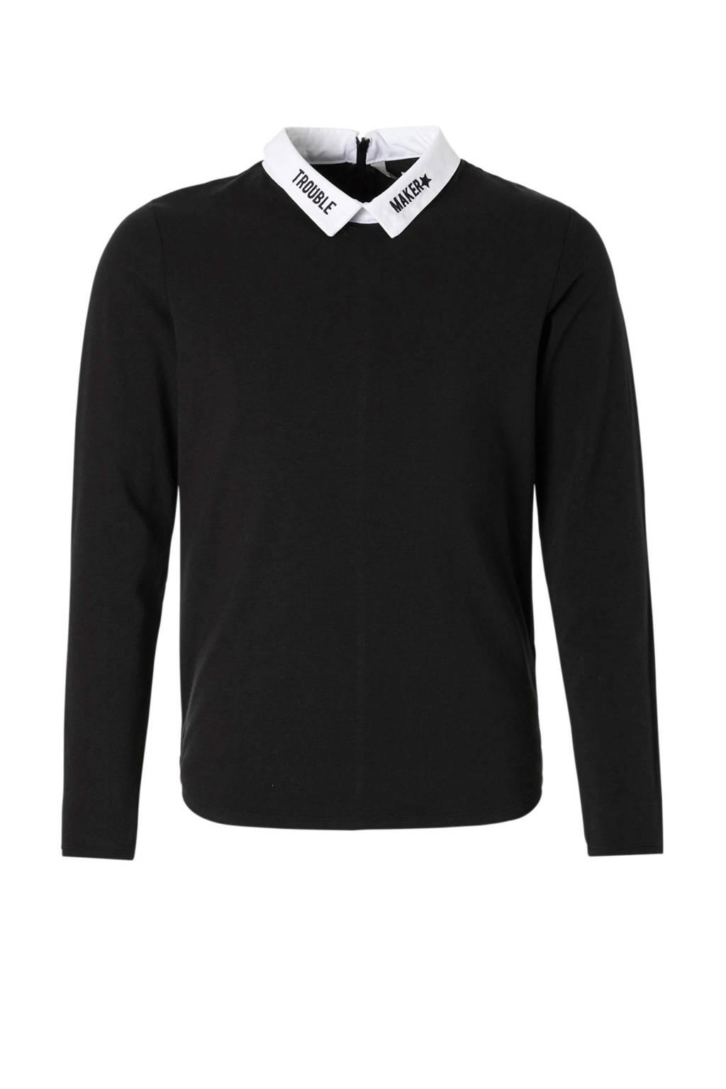 Garcia trui zwart, Zwart/wit