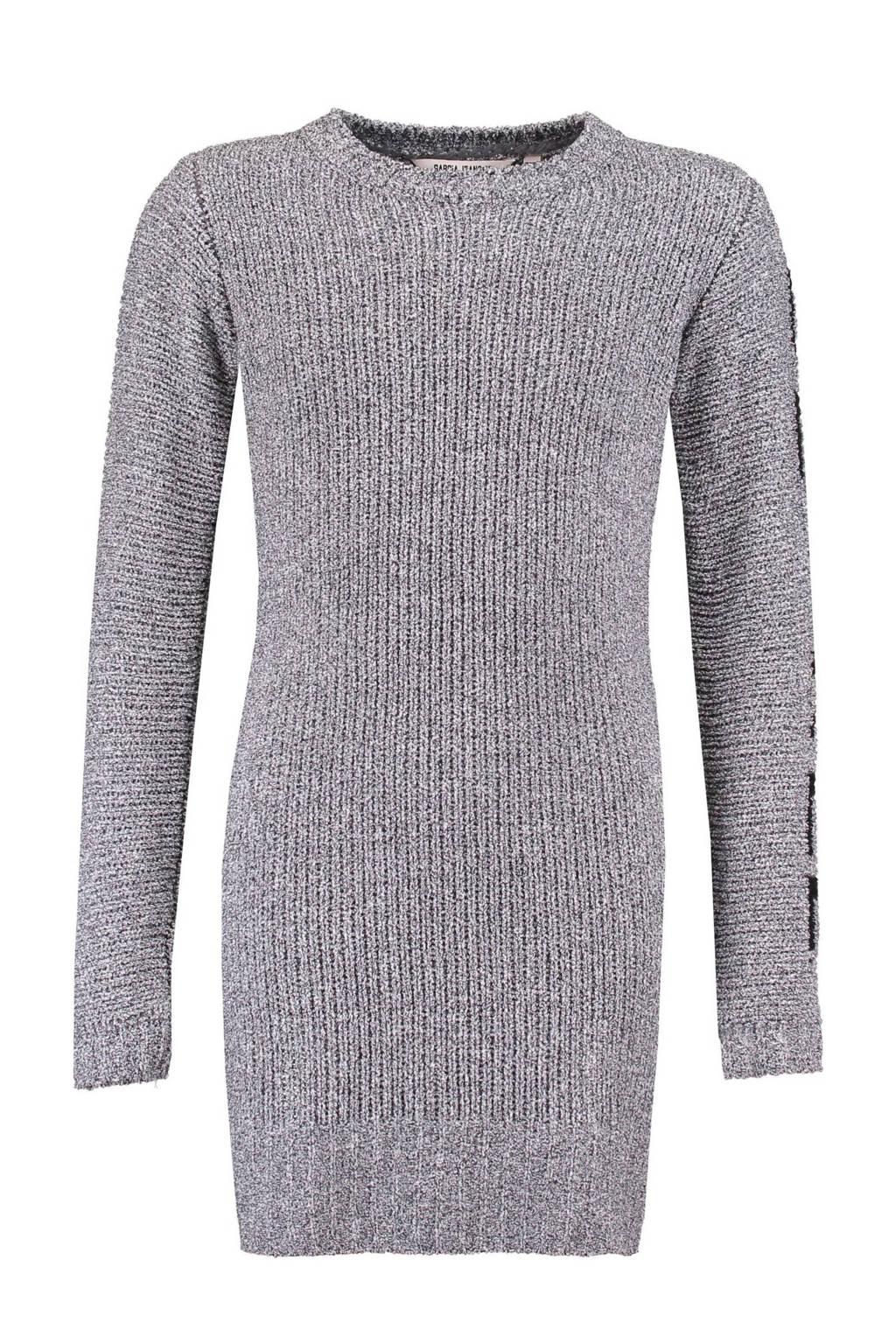 Garcia jurk grijs mêlee, grijs melange/ zwart