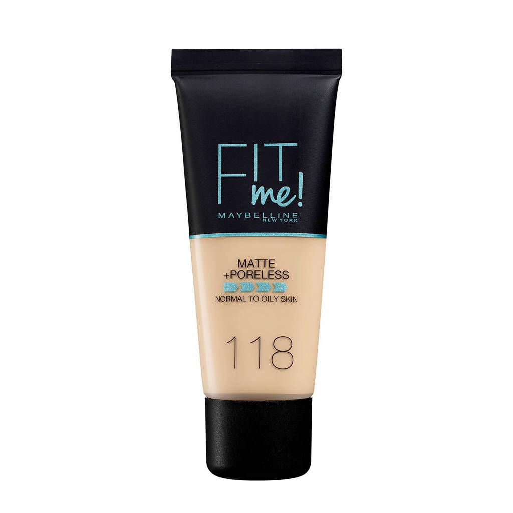 Maybelline New York Fit Me! Matte + Poreless liquid foundation - 118 Nude