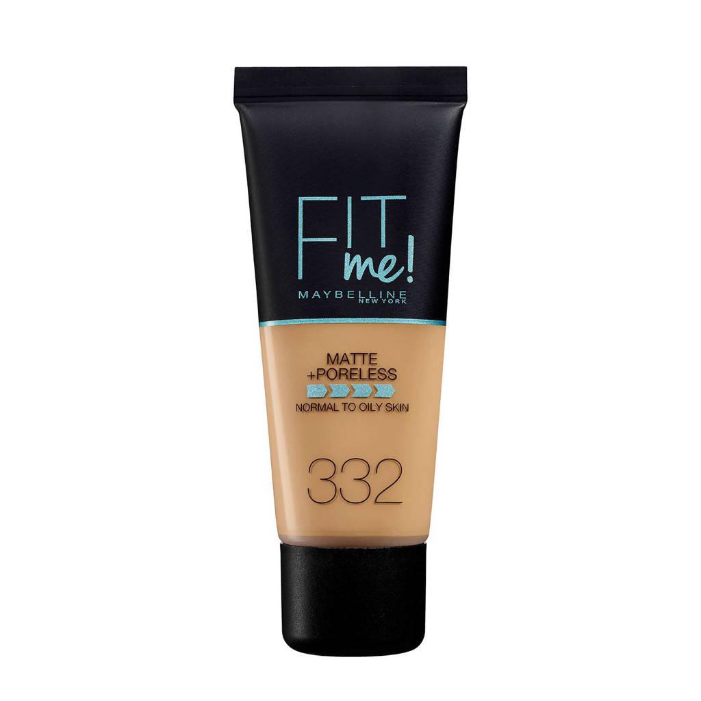 Maybelline New York Fit Me! Matte + Poreless liquid foundation - 332 Golden Caramel