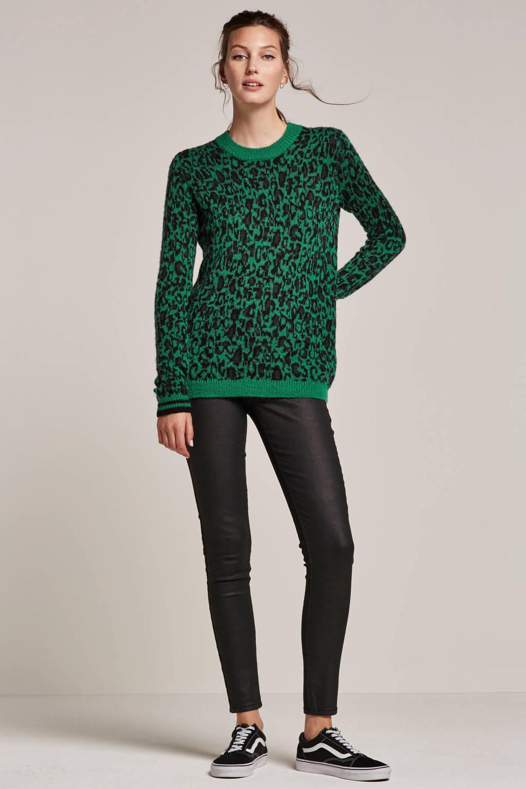 whkmp's own coated skinny broek, Zwart