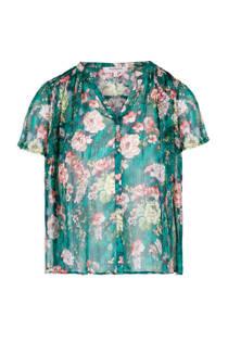 Morgan gebloemde blouse groen (dames)
