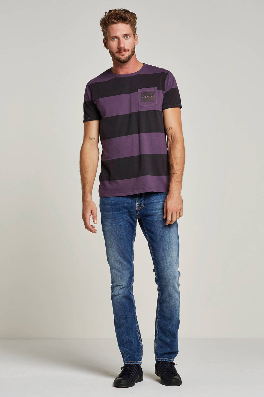 Nudie Jeans Grim Tim slim fit jeans, Blauw