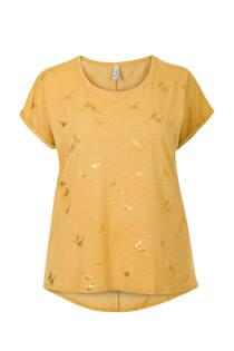 Miss Etam Plus T-shirt met vogelprint