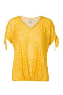 Miss Etam Regulier top met stippen geel