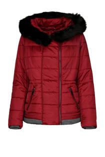 Cassis gewatteerde winterjas rood (dames)