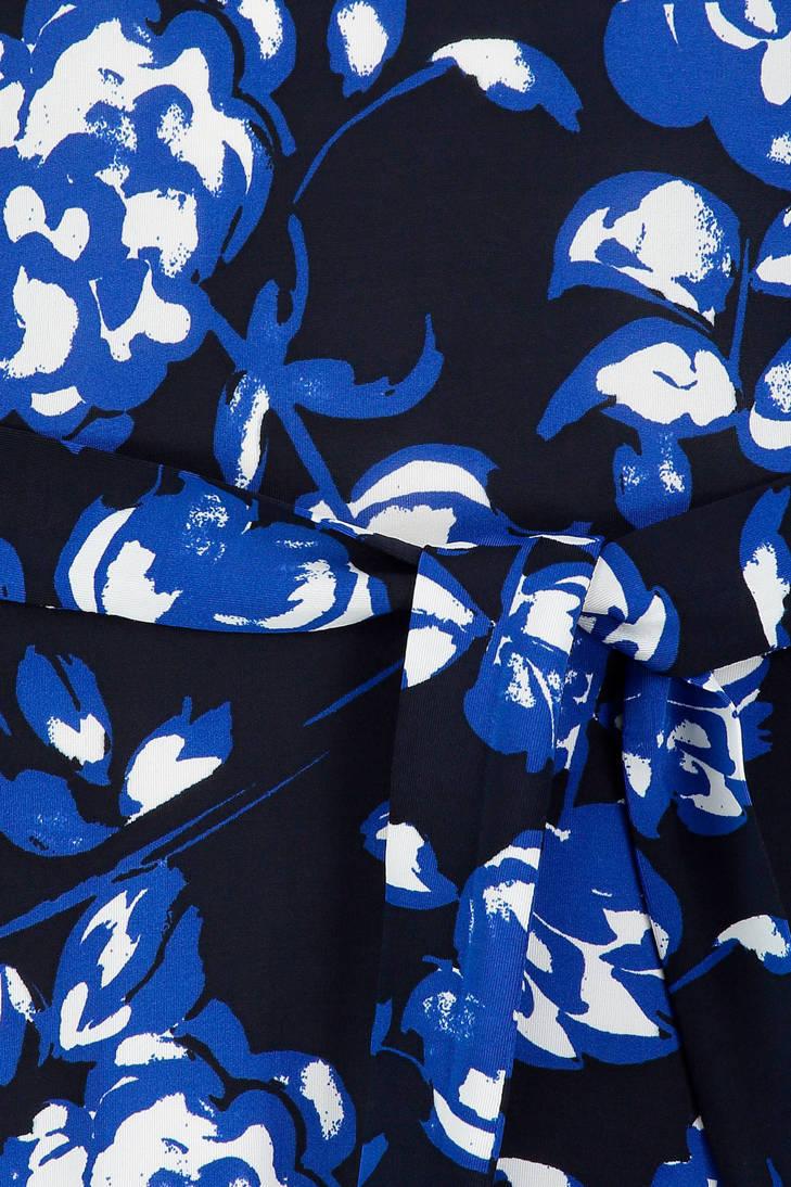 gebloemde Claudia Claudia blauw Sträter jurk Sträter wv8gqt