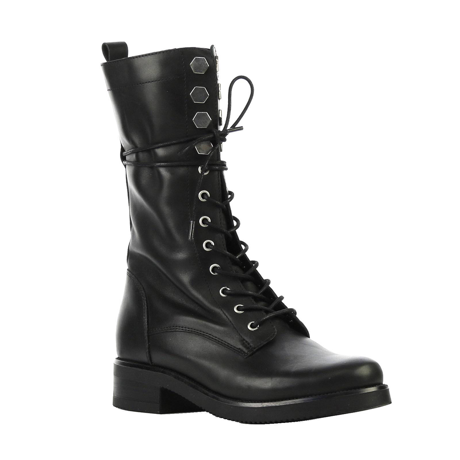 leren laarzen Hexagon Army Boot zwart