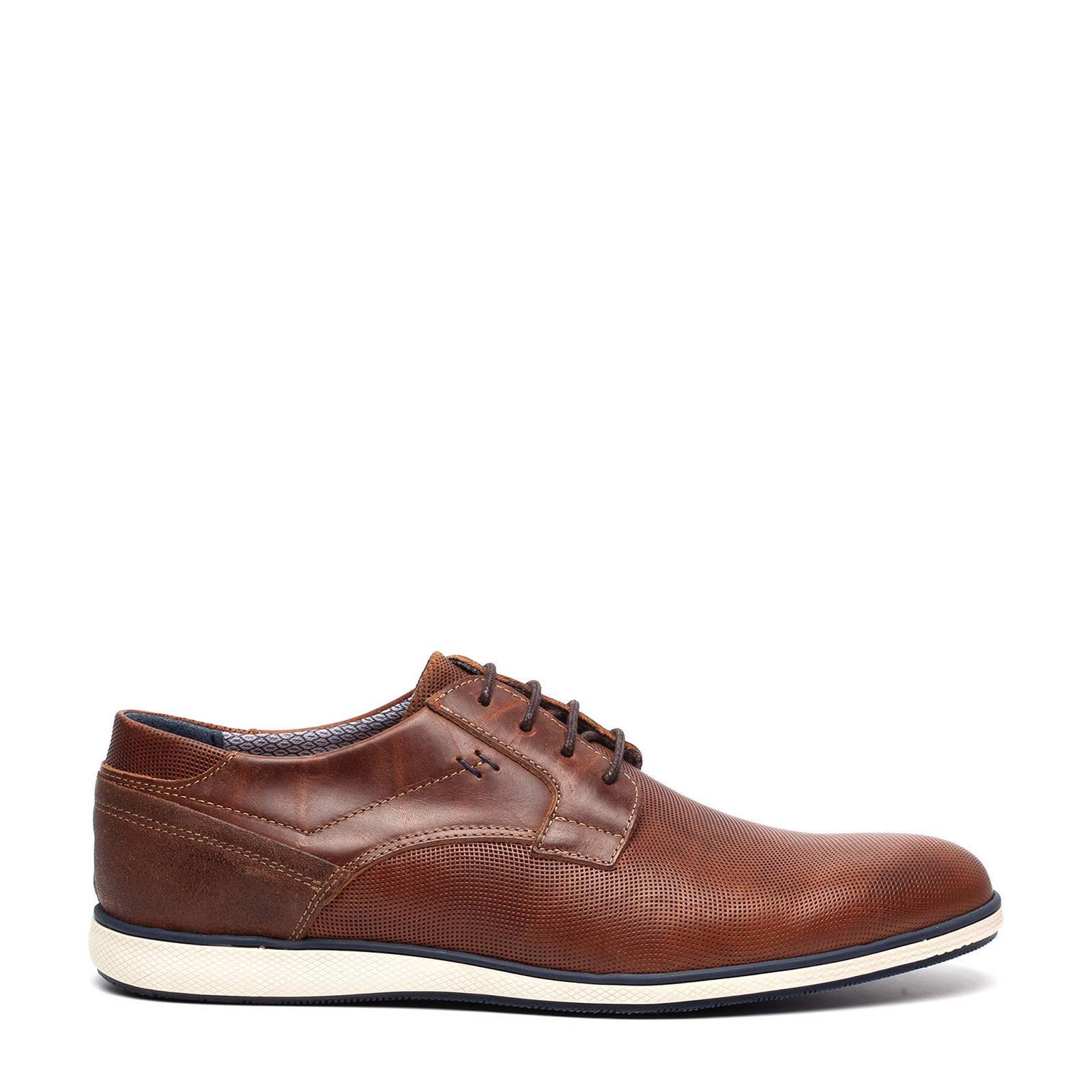 04fe8f5b1b6 Scapino TwoDay leren sneakers bruin | wehkamp