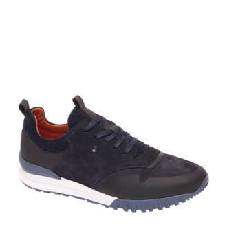 vanHaren AM SHOE  suède sneaker blauw