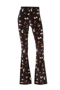 Catwalk Junkie Winter Florals fluwelen flared broek