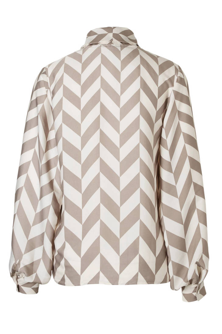 blouse Rum over House all Fifth print met wz4Zaf