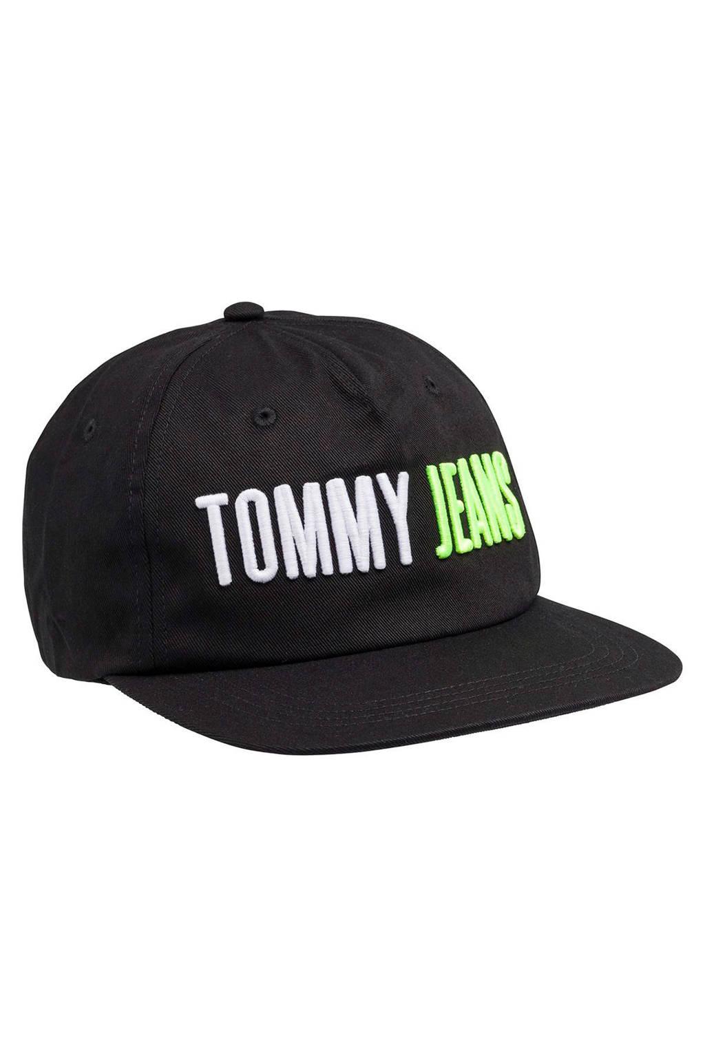 Tommy Jeans Snapback pet TJU Reverse Logo Cap, Zwart/wit/groen