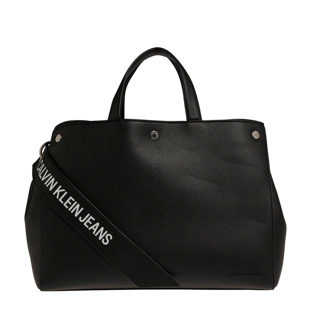 Calvin Klein Jeans  handtas Logo Banner Ew T Bottom Tote, Zwart