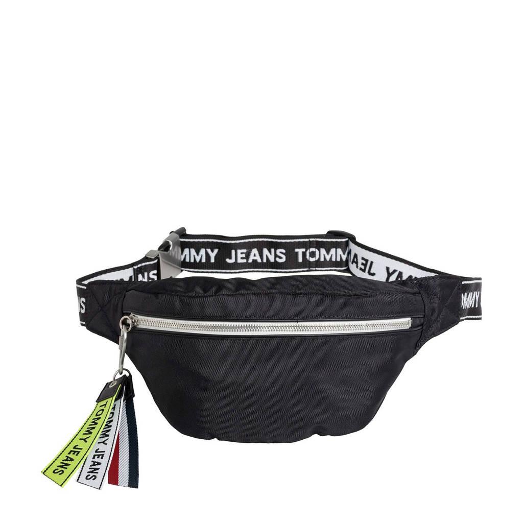 Tommy Jeans  heuptas TJU Logo Tape, Zwart/wit