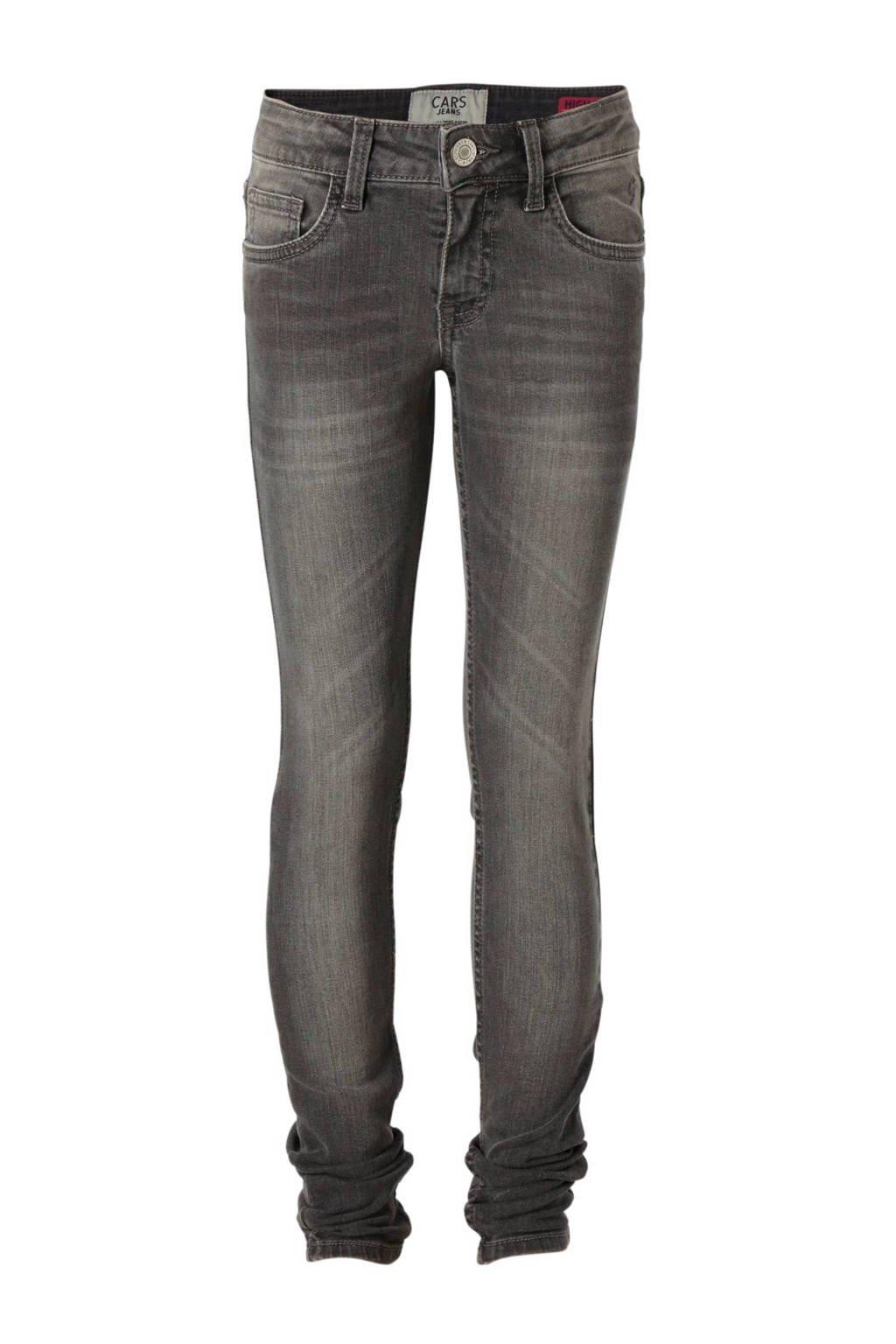 Cars high waist skinny jeans Haletta grijs, Grijs