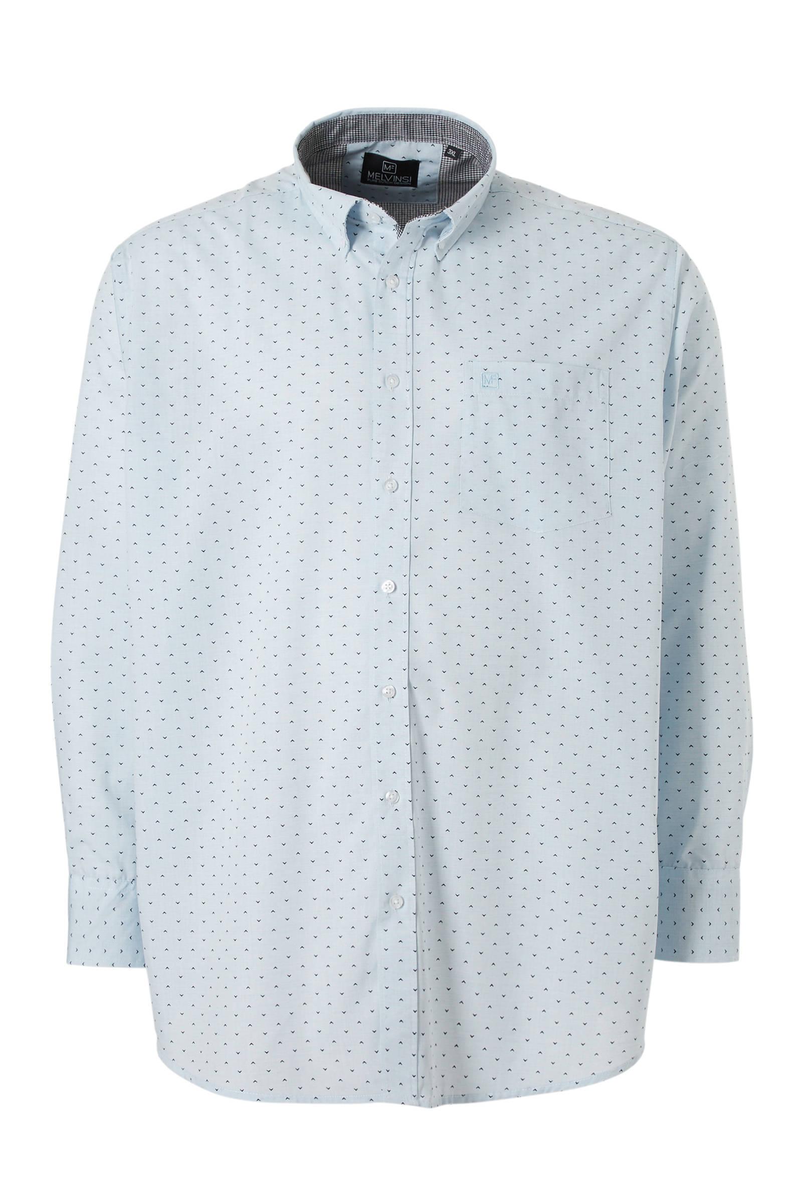 Melvinsi +size regular fit overhemd (heren)