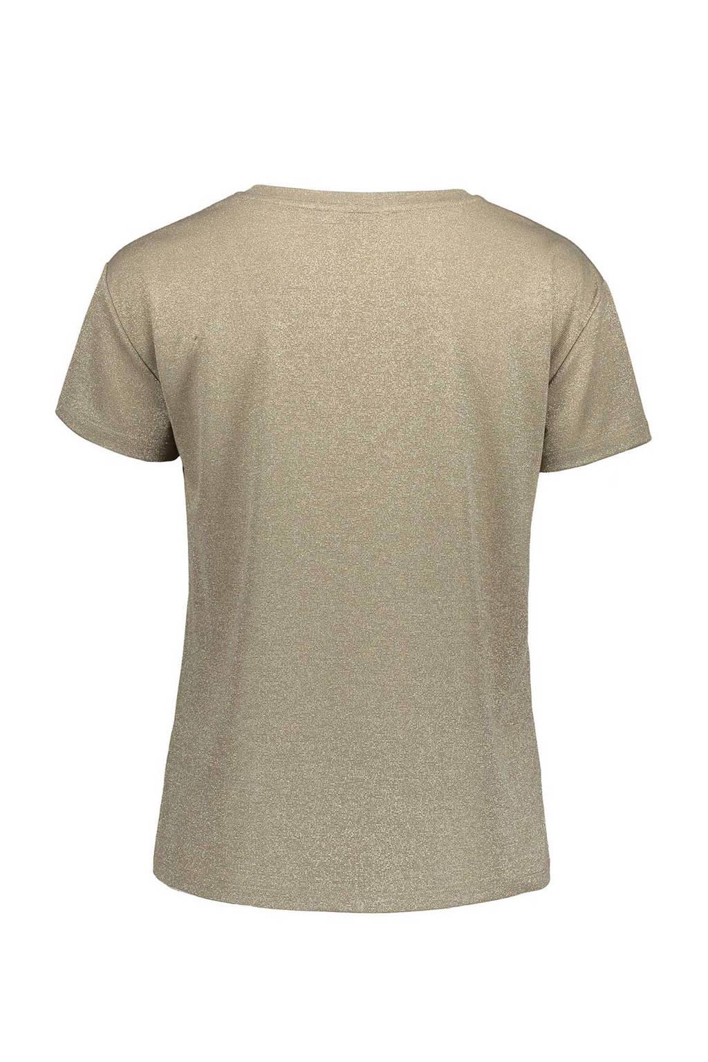 Sissy-Boy glitter T-shirt beige, Beige