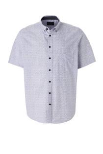 C&A XL Canda overhemd met print wit/blauw (heren)