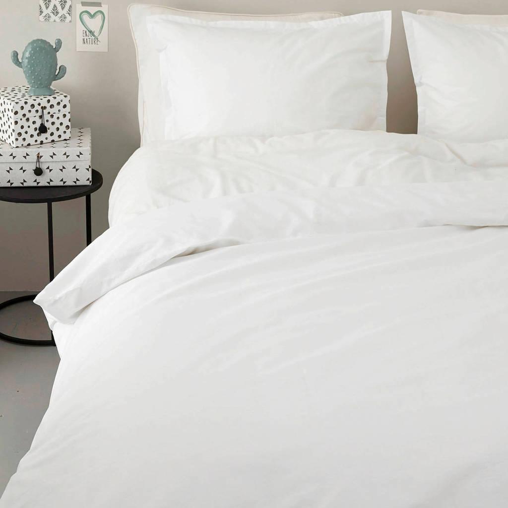 whkmp's own perkalkatoenen (hotel) dekbedovertrek lits. jum. xl, Wit, Lits-jumeaux XL (260 cm breed)
