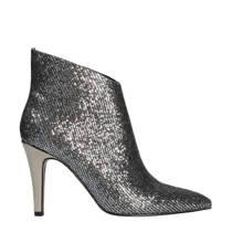 Manfield enkellaarzen met glitters zilver (dames)