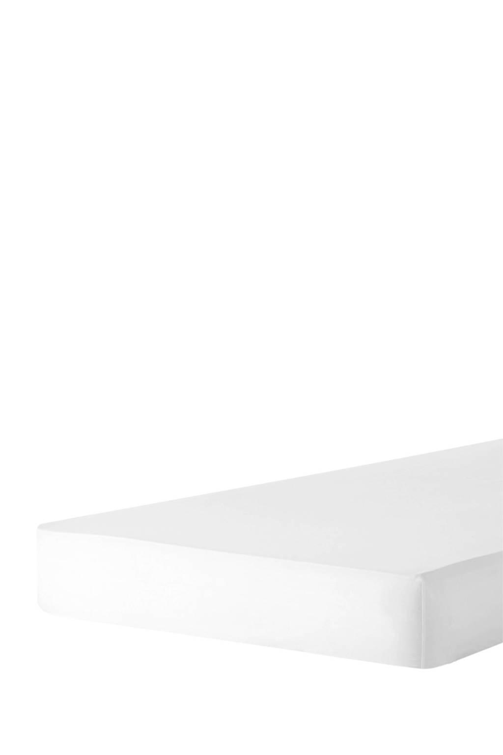wehkamp home perkalkatoenen (hotel) hoeslaken Wit